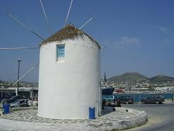 Paros, Parikia, the windmill in the harbour