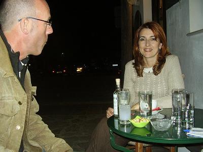 Marina Café in Alyki on Paros