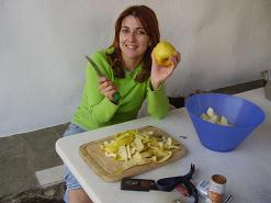 Paros, Anna making the apple pie