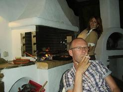 Paros, the bbq, Anna and Wilbert