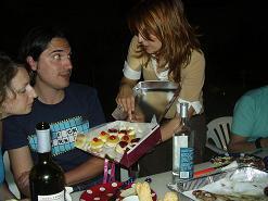 Paros, Anna presenting her cakes