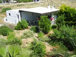 Paros, Ikia studios, the bbq space in the garden