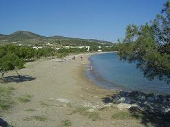 Paros, Alyki the other town beach around the corner of the boulevard