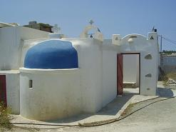 Church near Laggeri Beach Paros