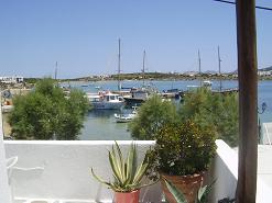 view from Rocco's Studios in Antiparos