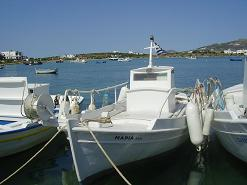 Rocco's Studios in Antiparos, the harbour