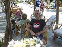 Santorini, Kamari, Levante Café, restaurant & cocktailbar