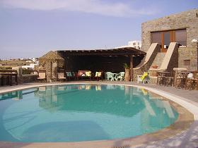 Villa Konstantin in Mykonos town, the pool