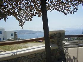 Villa Konstantin in Mykonos town, view from the pool