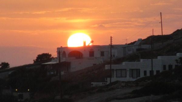 Zonsondergang in Donoussa