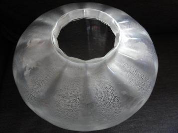 Grote helderglazen Sonoor craquelévaas (middelste maat), ontwerp A.D.Copier 1937, uitvoering Leerdam