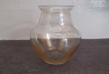 Gesigneerde Copier vaas met goudluster uit 1923, 9,1 cm hoog