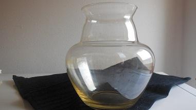 Gesigneerde Copier vaas met goudluster uit 1923, 13,3 cm hoog