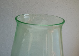 Grote gesigneerde annagroene vaas, ontwerp A.D.Copier ca 1930