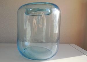 Grote gesigneerde lichtblauwe vaas, ontwerp A.D.Copier ca 1930