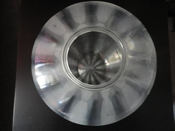 Grote helderglazen Sonoor craquelévaas (grootste maat), ontwerp A.D.Copier 1937, uitvoering Leerdam