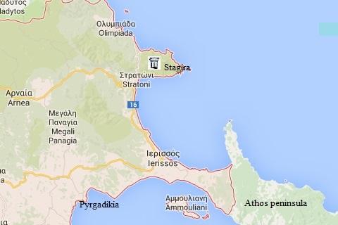 plattegrond van Halkidiki