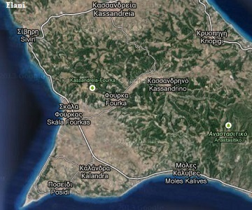 The nicest beaches naturist beaches and hotels in Siviri on the