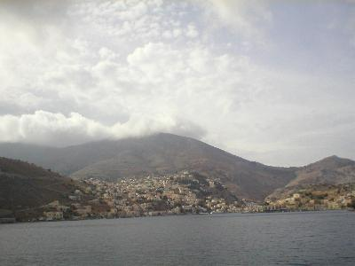 The island of Symi in the clouds