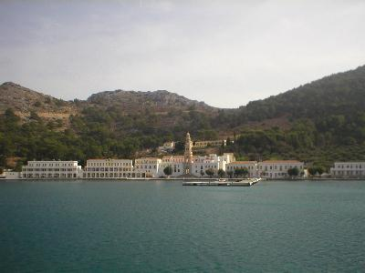 The monastery Panormos on Symi