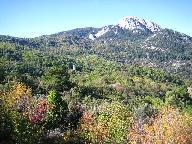 De hoogste berg Olymbos