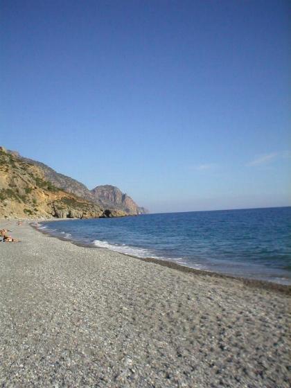 Het strand van Sougia op Kreta