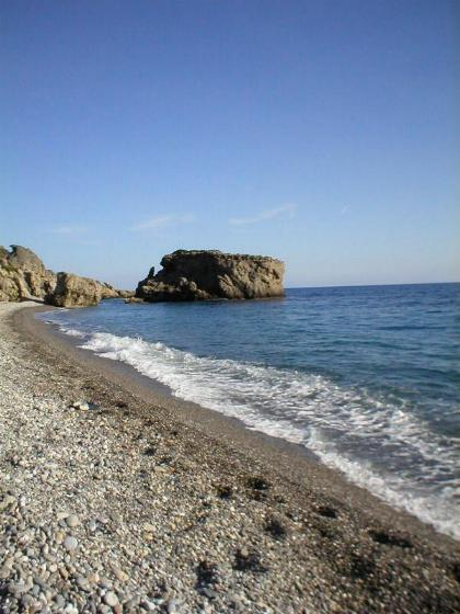 The beach at Sougia