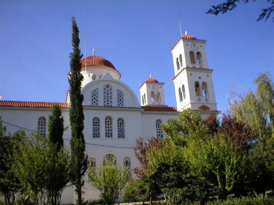 De kerk in Kandanos.