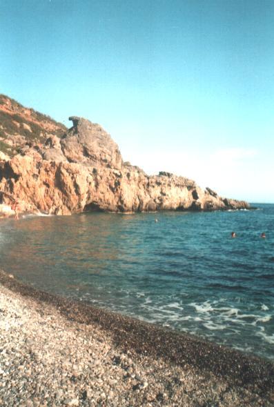 Het strand van Sougia