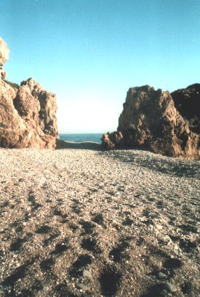 Het strand van Sougia.
