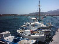 the harbour of Antiparos