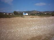 Soros strand in het zuidwesten van Antiparos