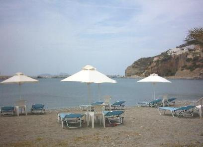 The beach at Agia Galini.