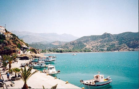 The harbour of Agia Galini