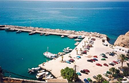 De haven van Agia Galini.