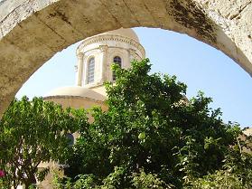 Agia Triada monastery, Akrotiri, Crete.