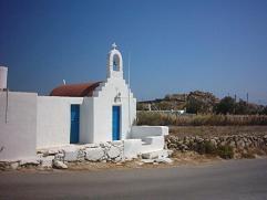 The church near Agia Anna Beach