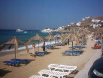 Blik over Agios Ioannis Beach.
