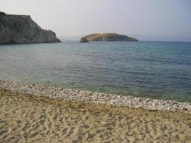 Almirida beach.