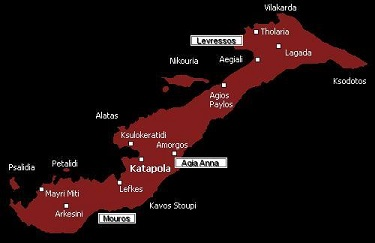 Amorgos naturist beaches map