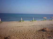 Het strand Analipsi.