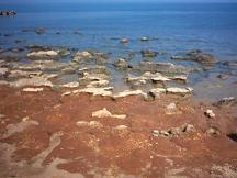 Rotsen bij het strand Analipsi.
