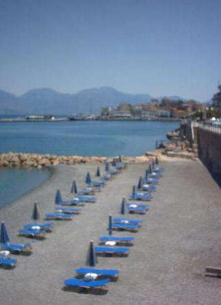 one of the town beaches of Agios Nikolaos.