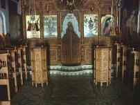 De binnenkant van een kerk bij een klooster in Anapolis.