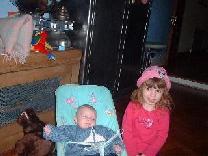 hun kinderen Hannah en Jack