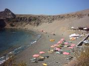 The townbeach of Agios Pavlos.