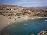 The beach of Agios Pavlos.