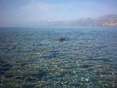 The crystal clear water at the beach of Agios Pavlos.
