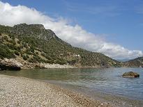 Samos, beach near Limnionas
