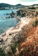 The beach between Platis Gialos and Paranga